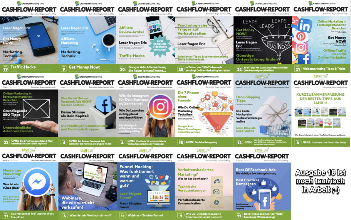 Cashflow Report Collage